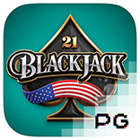 pg slot american blackjack logo game