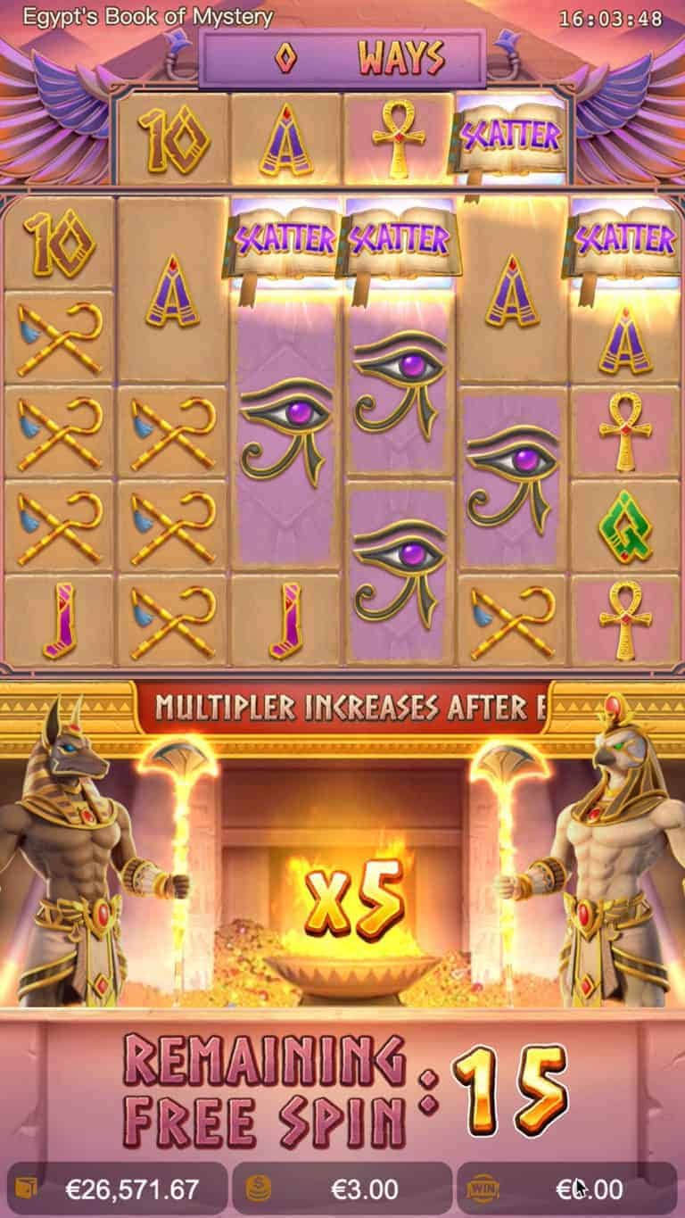 egypts book of mystery free spins 2