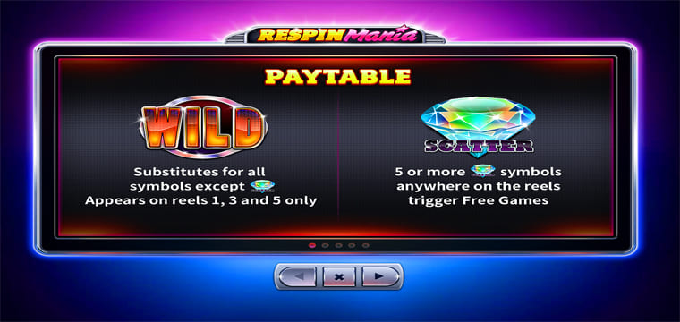 respin mania paytable