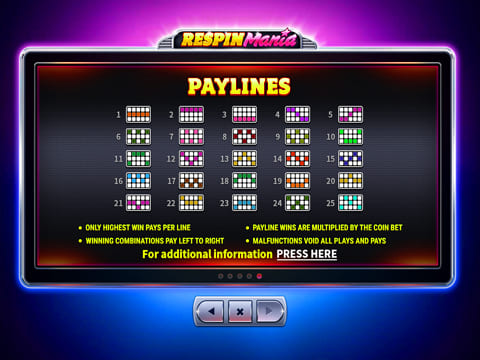 respin mania playlines